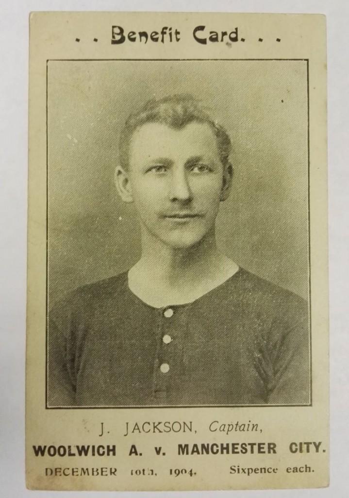 Jimmy Jackson Woolwich Arsenal Postcard 1904