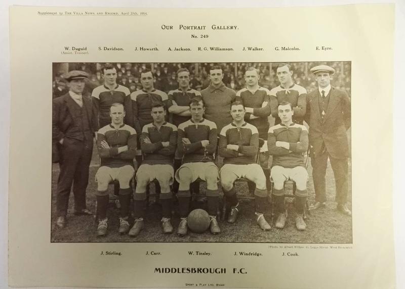 Middlesbrough FC Team Photograph April 1914