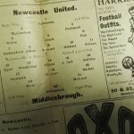 Newcastle United vs Middlesbrough Official Programme March 1912 inner