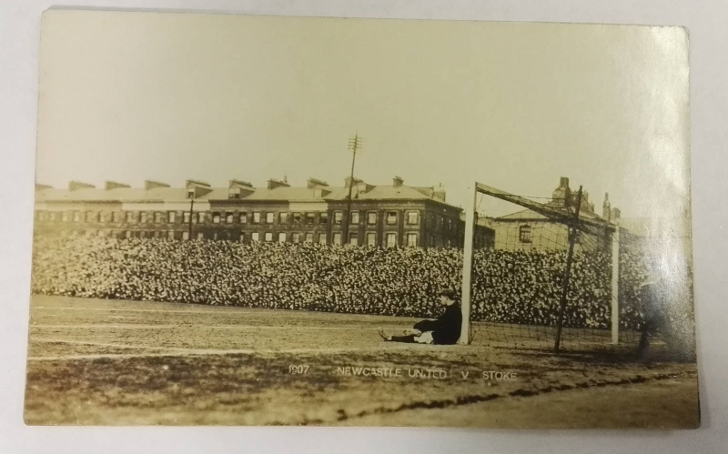 Newcastle United vs Stoke 1907 Postcard