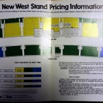 Tottenham Hotspur New West Stand Season Ticket Price Brochure Middle