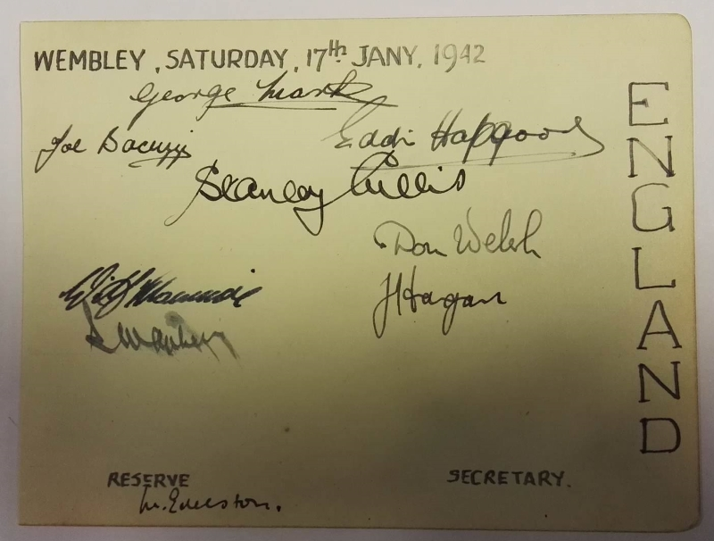 Aberdeen FC Autograph Card Scottish Cup Final 1947