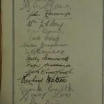 Blackburn Rovers Jubilee Dinner Signed Menu 1925 autos 1