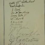Blackburn Rovers Jubilee Dinner Signed Menu 1925 autos 2