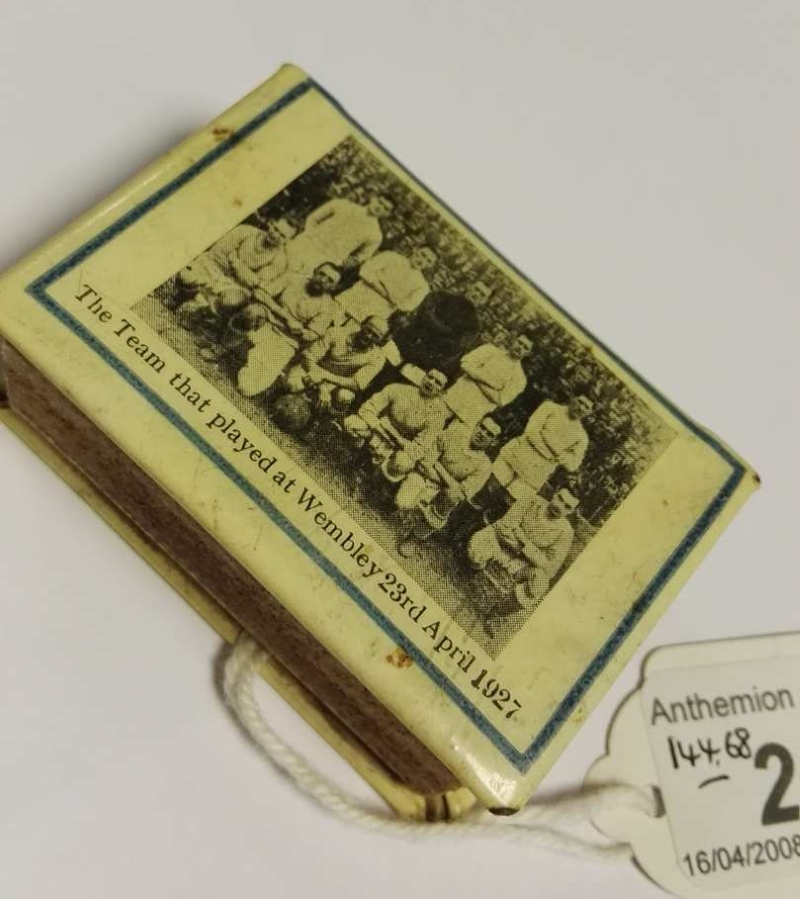 Cardiff City Matchbox Cover 1927 photo