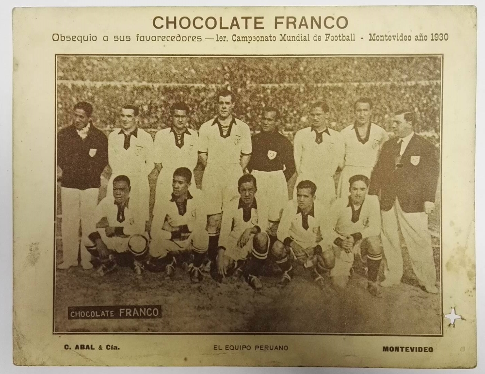 Chocolate Franco World Cup Final 1930 Football Cards Peru