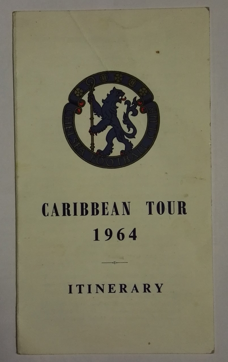 Chelsea Carribean Tour Itinerary 1964 front
