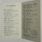 Chelsea Carribean Tour Itinerary 1964 inner
