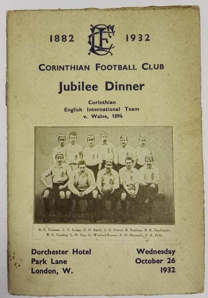 Corinthian FC jubilee dinner