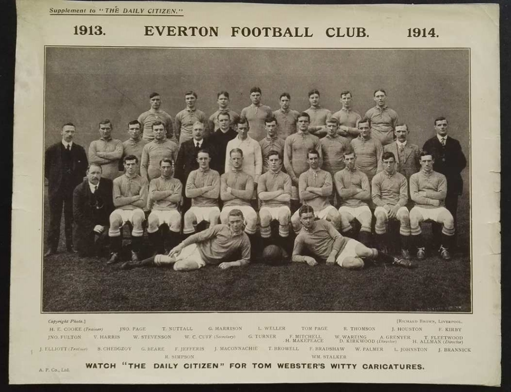 Everton FC Team Photo 1913/14