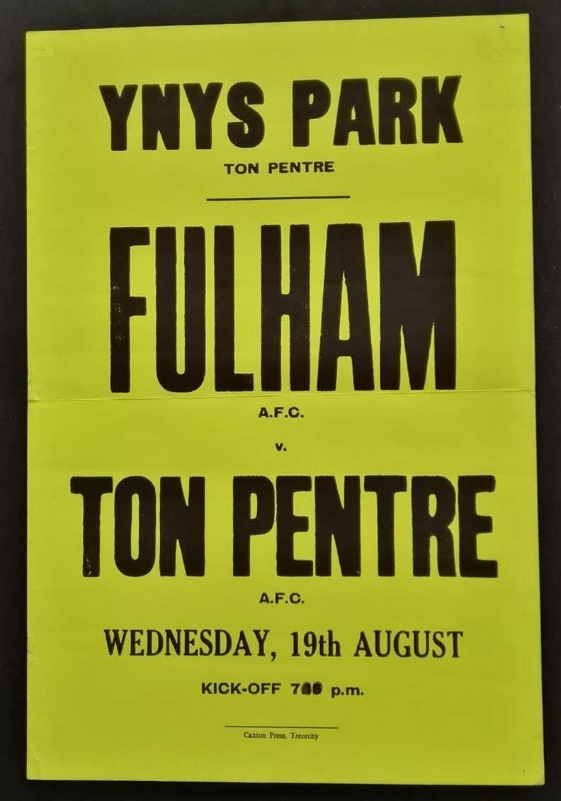 Fulham vs Ton Pentre AFC 1980s friendly