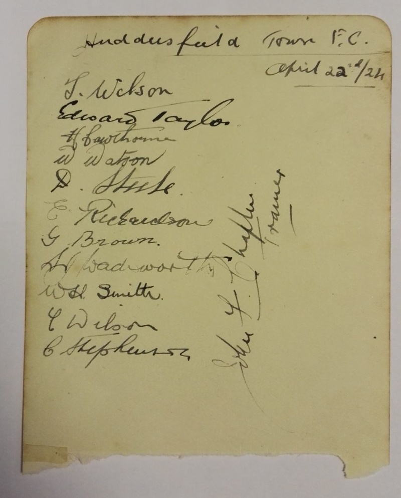 Huddersfield Town Autographs April 1924
