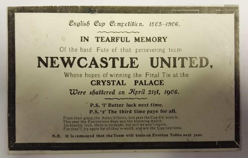 Newcastle United Memorial Postcard April 1906
