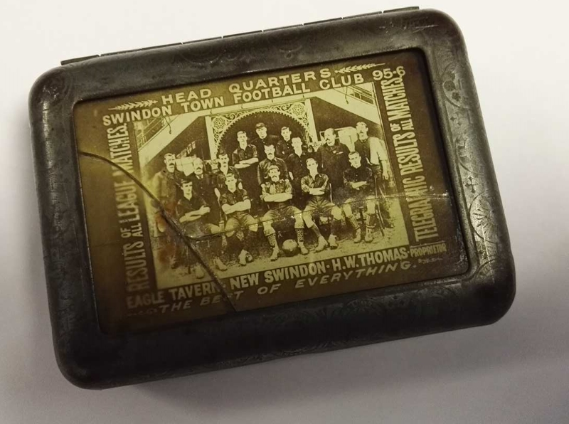 Swindon Town FC Tobacco Tin 1895/96