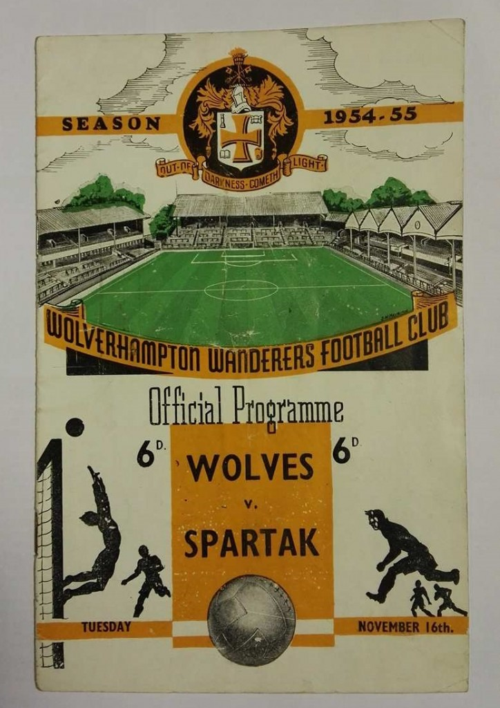 Wolves vs Spartak Moscow Signed Programme 1954