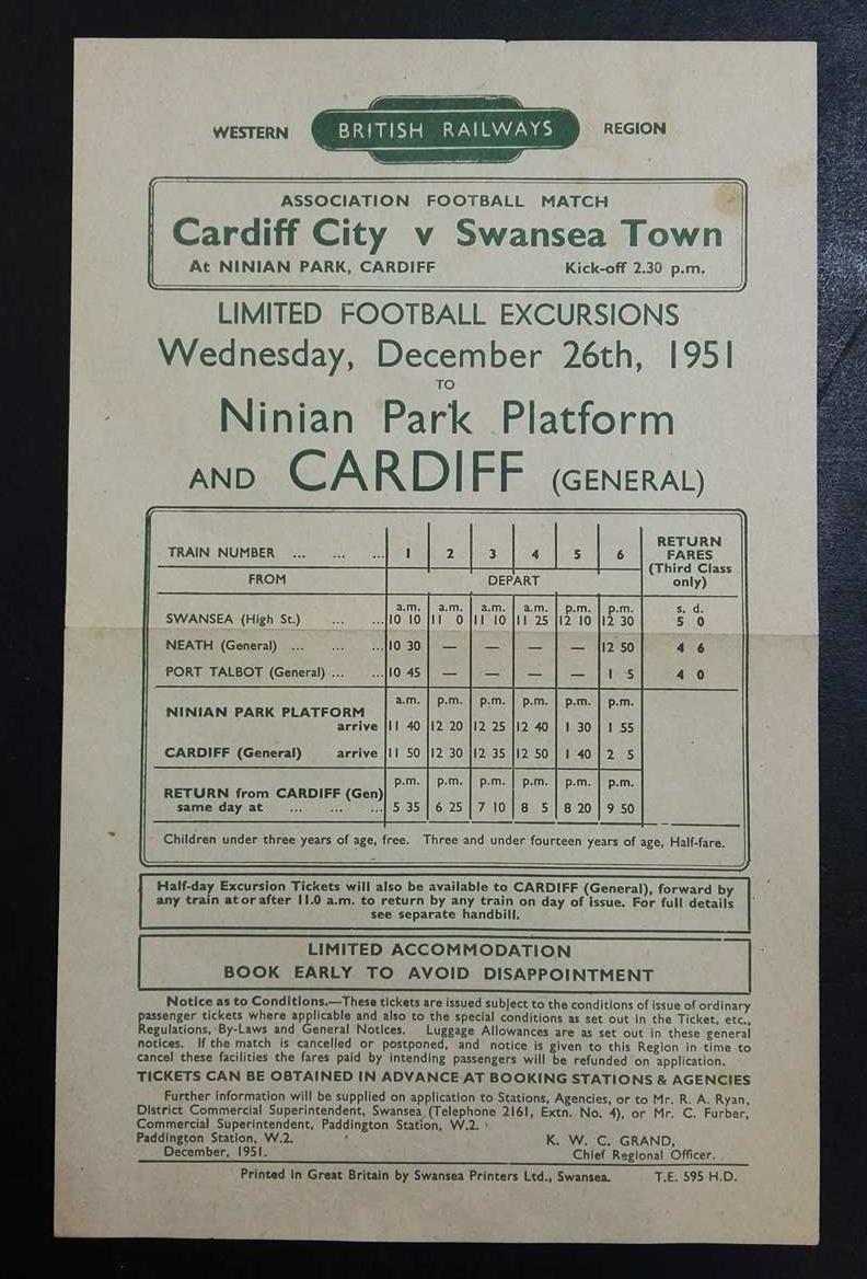 British Railway football handbill collector