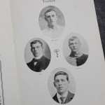 England vs Ireland Programme February 1905 - debutants