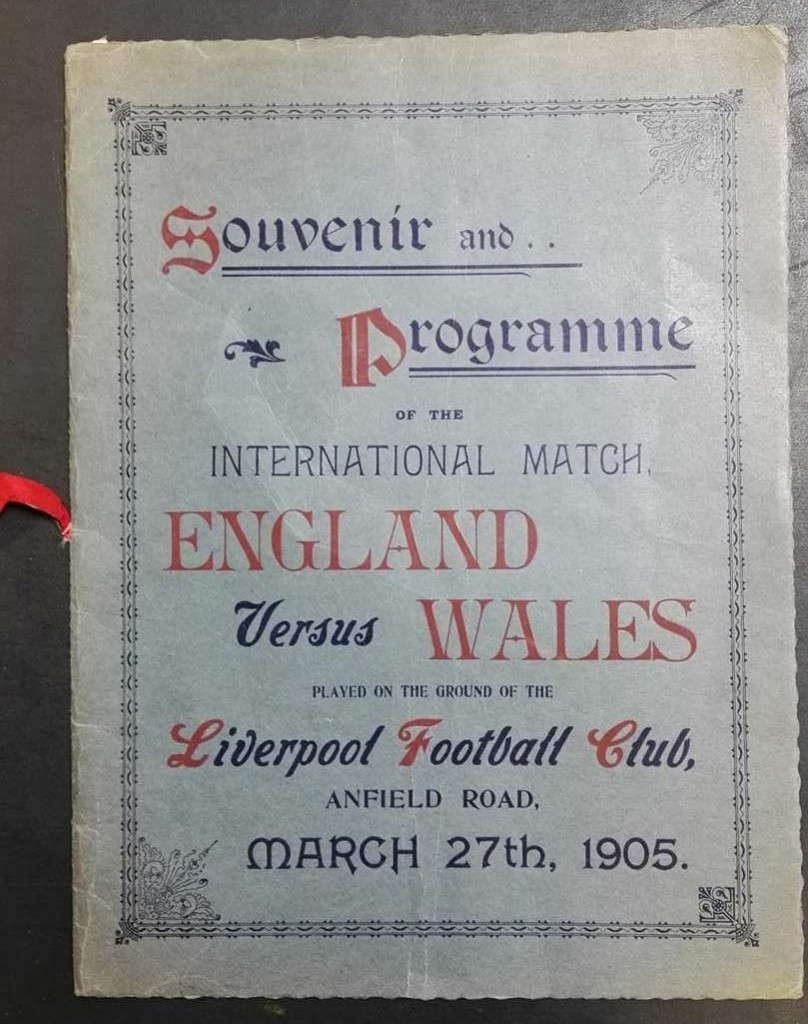 England vs Wales Programme March 1905