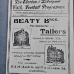 England vs Wales Programme March 1905 - inner