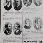 England vs Wales Programme March 1905 - prominent personalities
