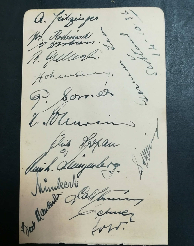 Scotland vs Germany Autographs 1936