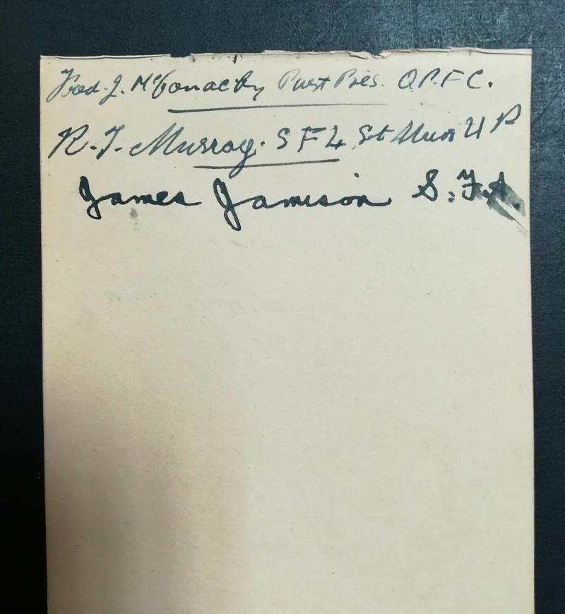 Scotland vs Germany Autographs 1936 - Scots Officials