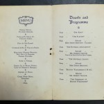 FA Cup Final 1929 Dinner Menu - Signed By Bolton - inner