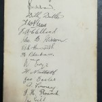 FA Cup Final 1929 Dinner Menu - Signed By Bolton - rear