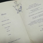 Huddersfield vs Independiente FC Signed Menu 1954 - inner