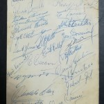 Huddersfield vs Independiente FC Signed Menu 1954 - rear