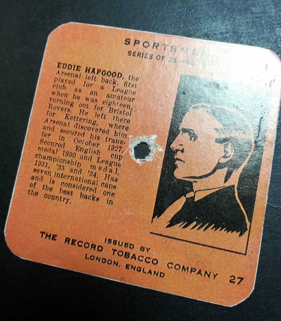 The Talkie Cigarette Card - Eddie Hapgood