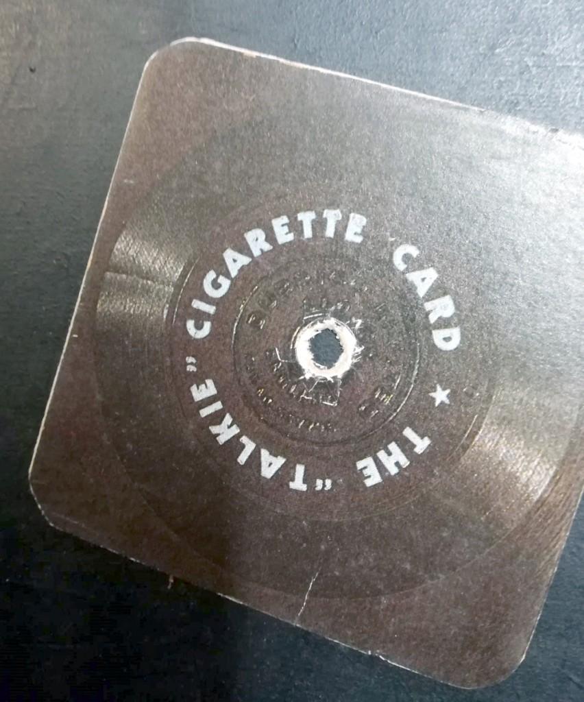 The Talkie Cigarette Card - Eddie Hapgood - rear