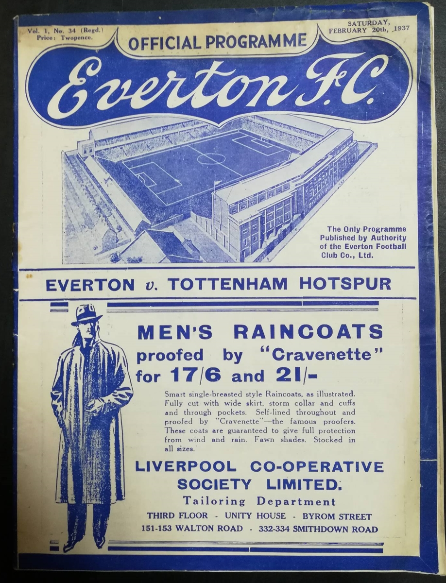 Everton programme collector