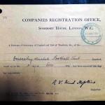 Oswestry United Shareholder Documents - Cert of Incorporation
