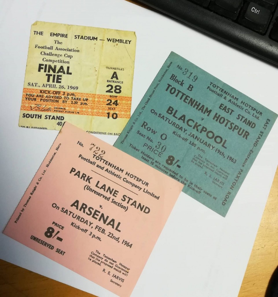 Three Ticket Stubs 1960s