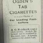 Ogden's Cigarette Cards - AG Raisbeck - Liverpool - Rear