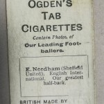 Ogden's Cigarette Cards - E Needham - Sheff Utd - Rear