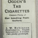 Ogden's Cigarette Cards - JW Robinson - Southampton - Rear