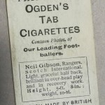 Ogden's Cigarette Cards - Neil Gibson - Rangers - Rear
