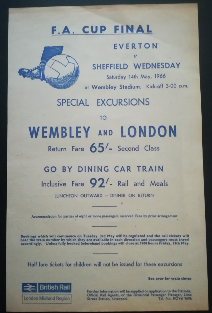 FA Cup Final 1966 Railway Poster