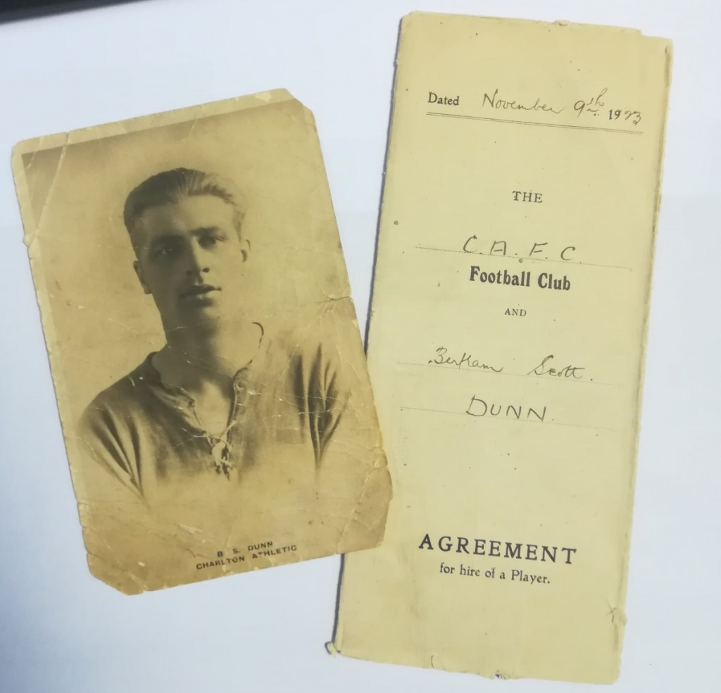 BS Dunn - Charlton Athletic Contract 1923