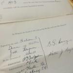 BS Dunn - Charlton Contact - 1923 - Signature
