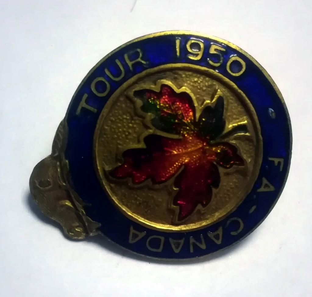 FA Tour of Canada 1950 Badge