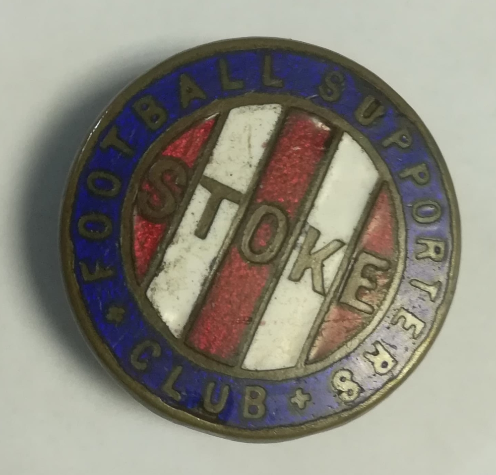 Stoke City football badge collector