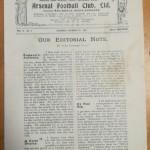 Arsenal football programme collector