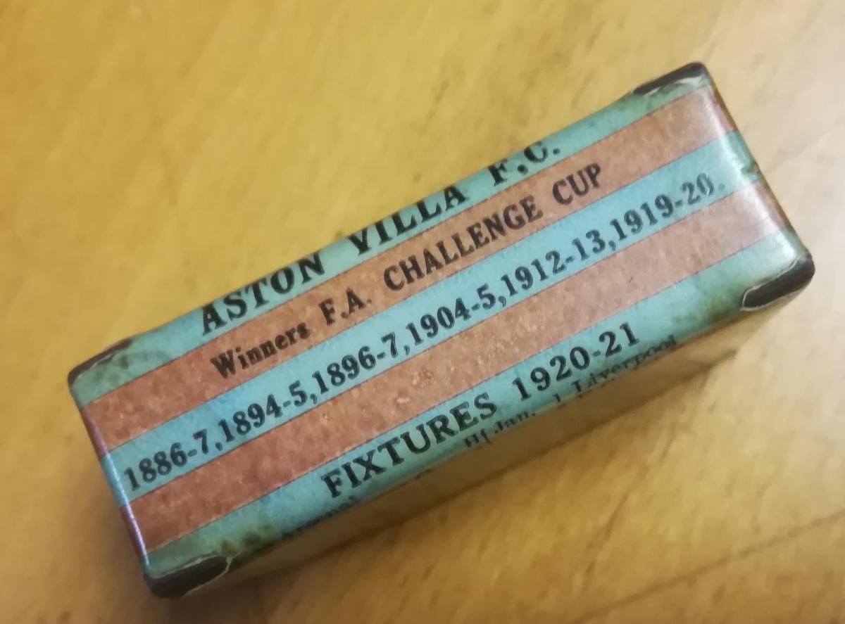 Aston villa memorabilia 1920s