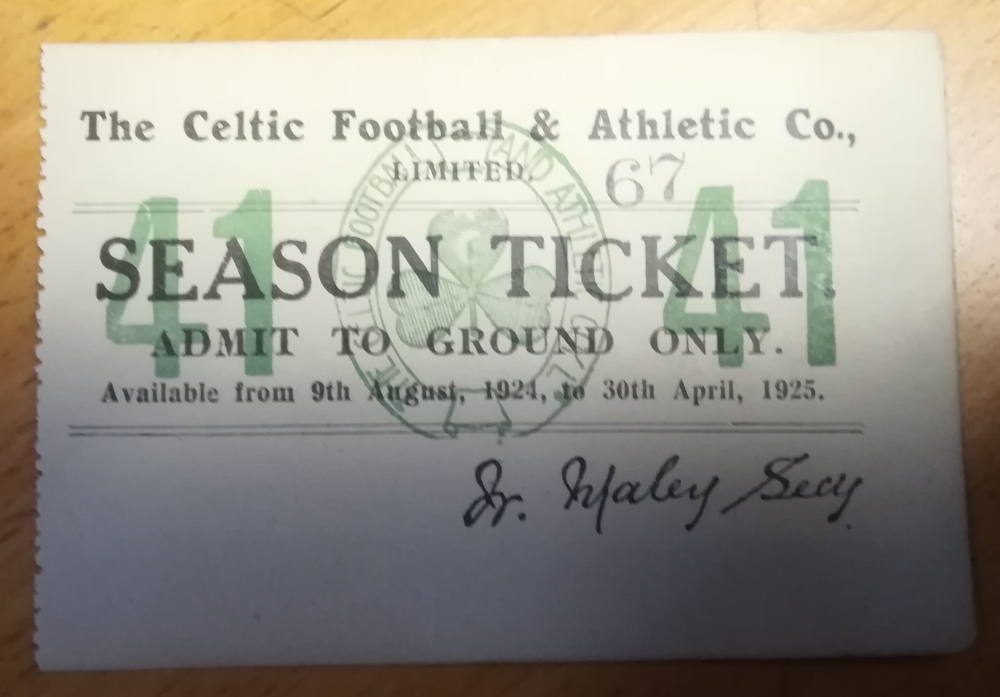 Celtic season ticket collector