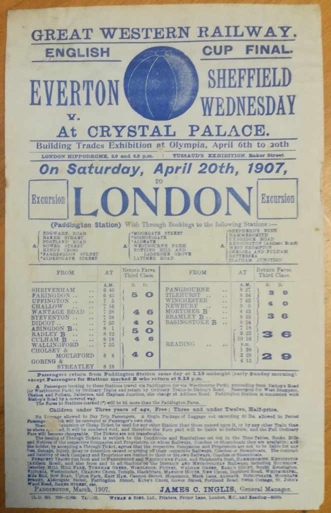 FA Cup Final 1907 Rail Poster