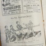 Huddersfield Town vs Burnley 1927 Programme - Turner Collection - Cartoon