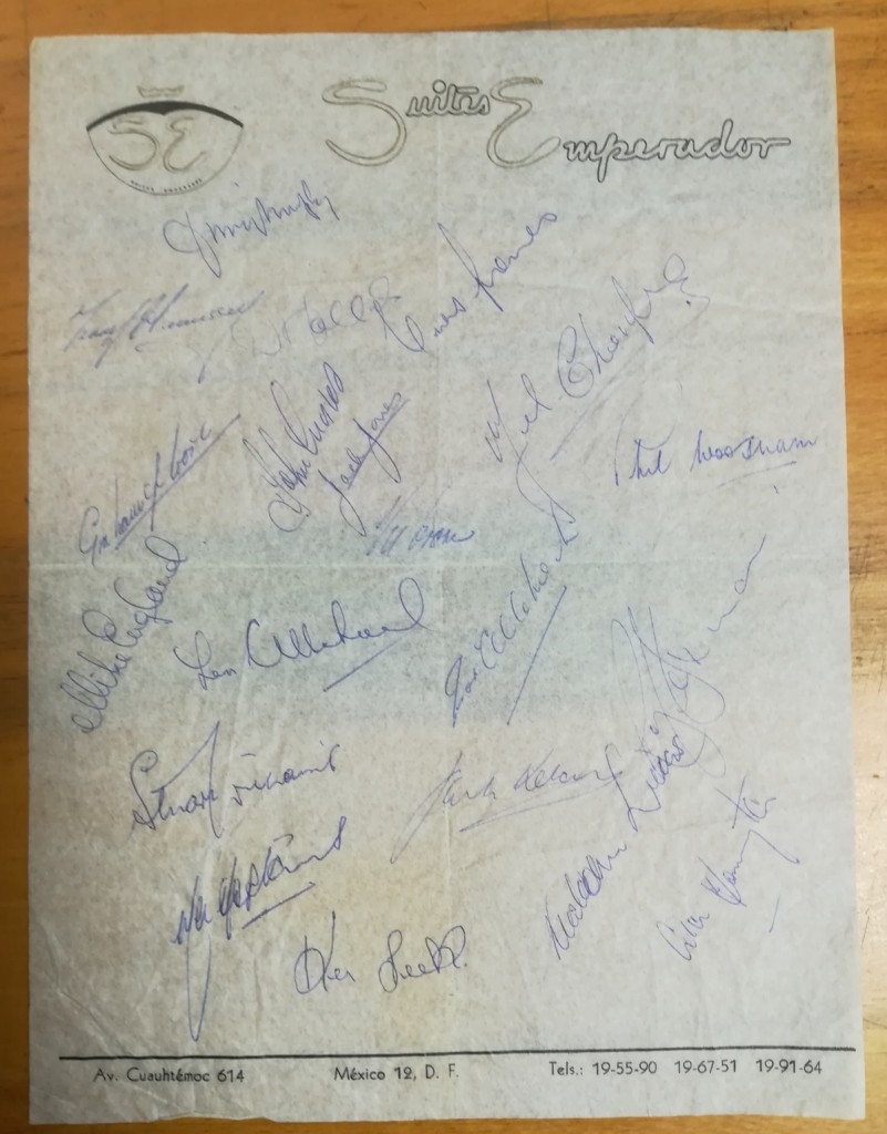 Mexico vs Wales May 1962 Autographs